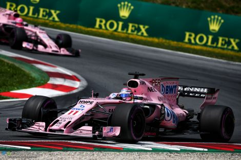 Sergio Perez, Force India, Red Bull Ring, 2017