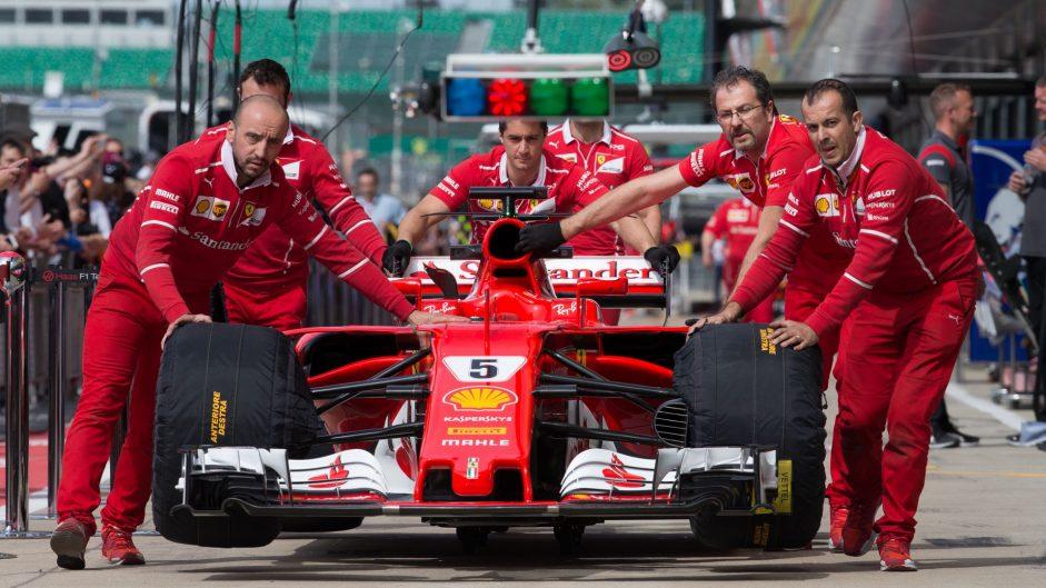 Ferrari SF70H, Silverstone, 2017