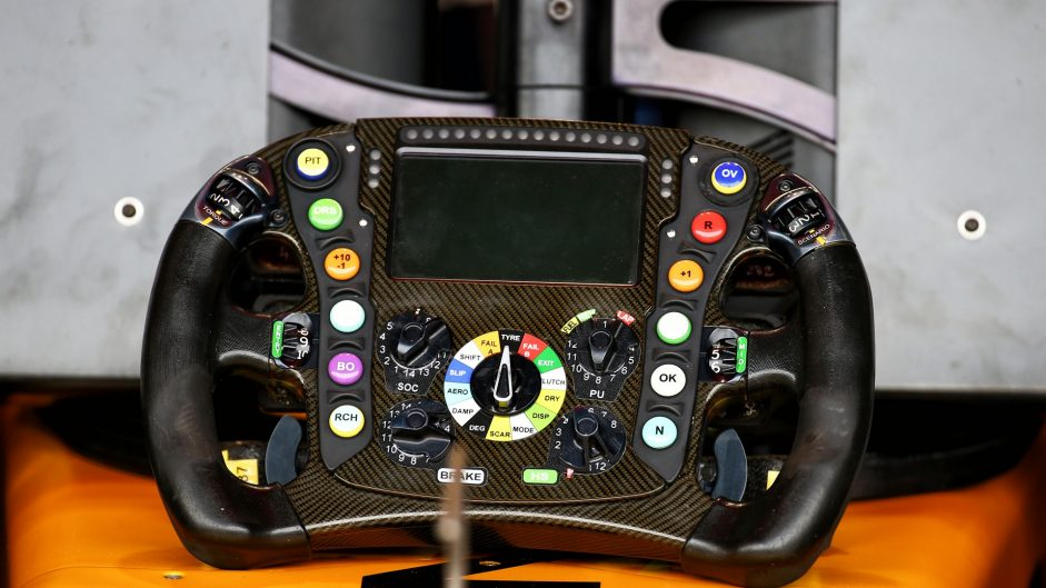 Renault RS17 steering wheel. Silverstone, 2017