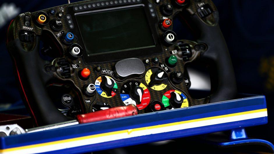 Sauber C36 steering wheel, Silverstone, 2017