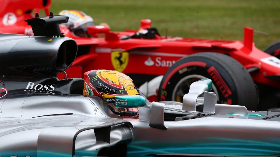 Sebastian Vettel, Ferrari, Silverstone, 2017