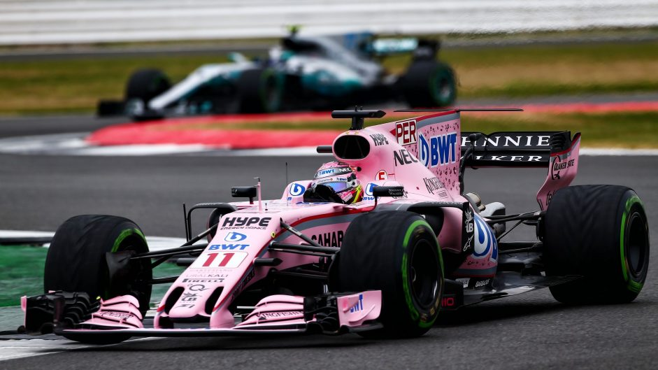 Sergio Perez, Force India, Silverstone, 2017