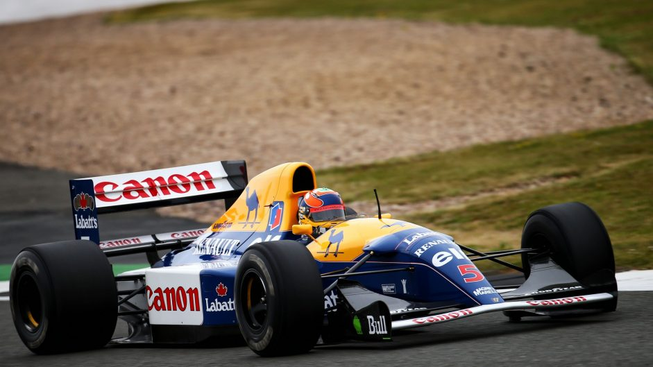 Karun Chandhok, Williams-Renault FW14B, Silverstone, 2017