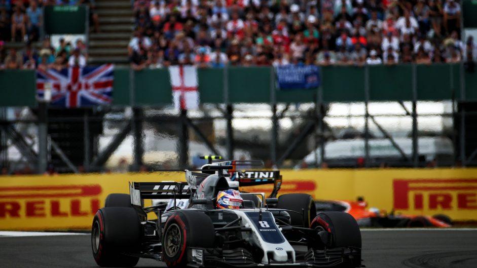 Romain Grosjean, Haas, Silverstone, 2017
