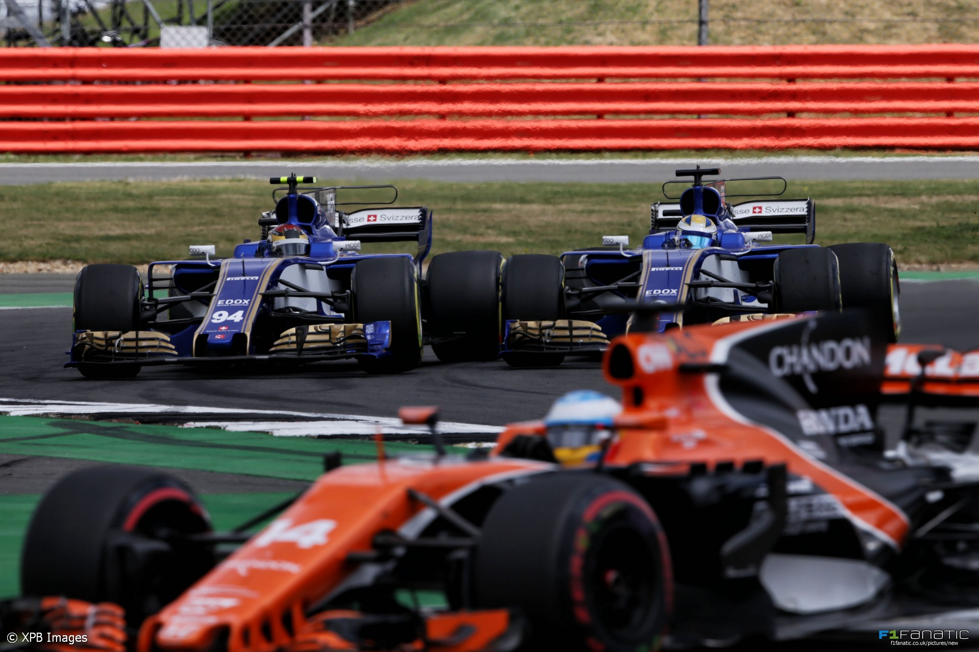 Pascal Wehrlein and Marcus Ericsson, Sauber, Silverstone, 2017