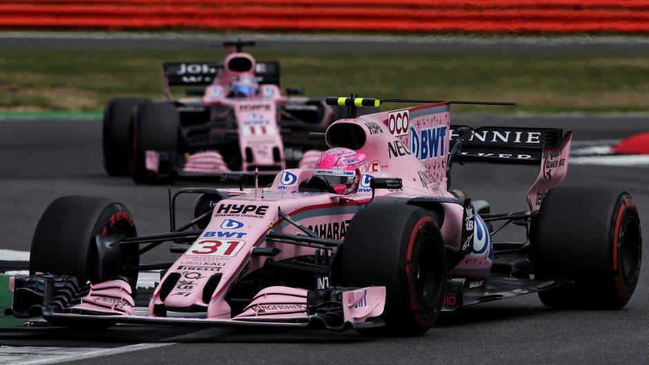 Esteban Ocon, Force India, Silverstone, 2017