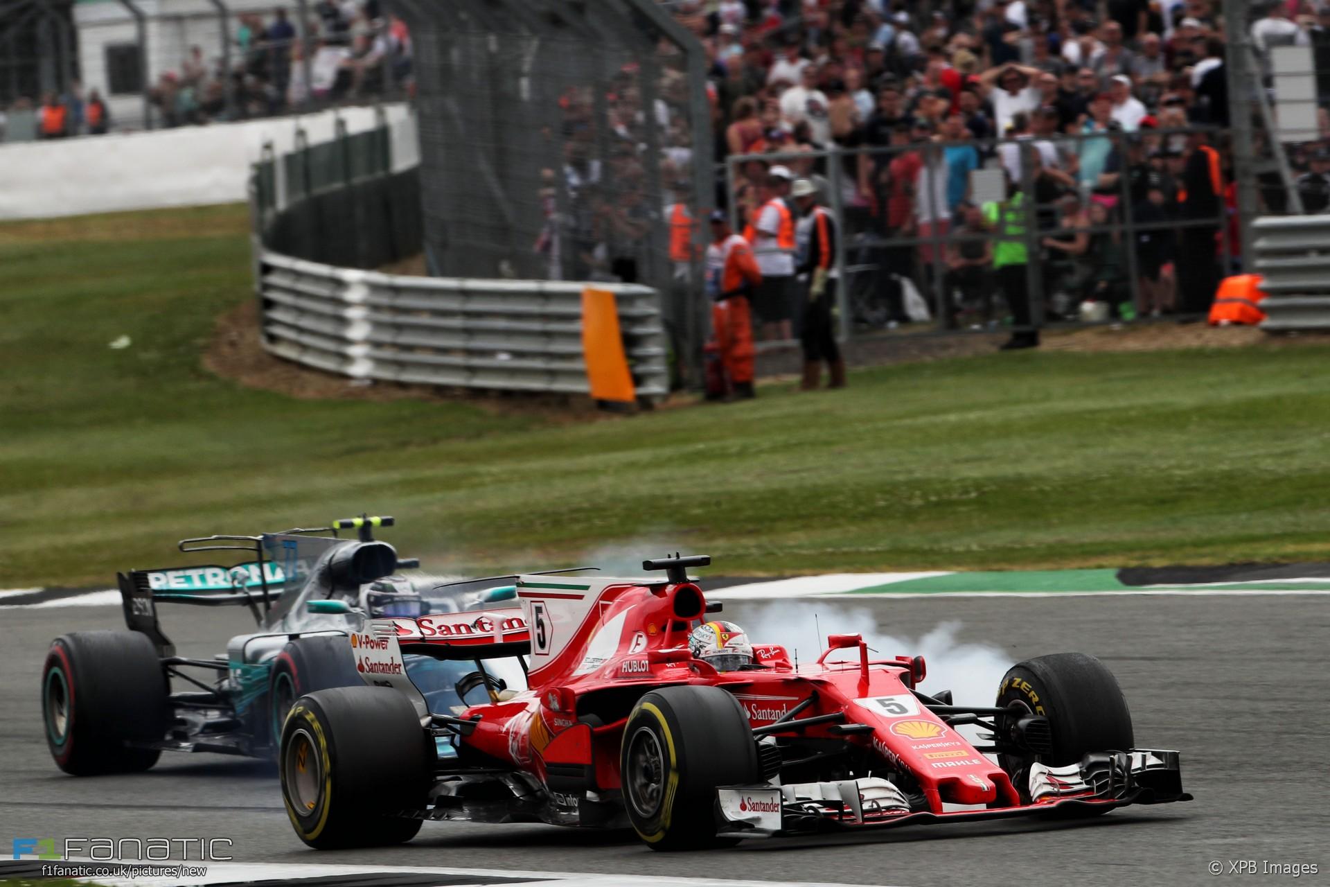 Sebastian Vettel, Valtteri Bottas, Silverstone, 2017
