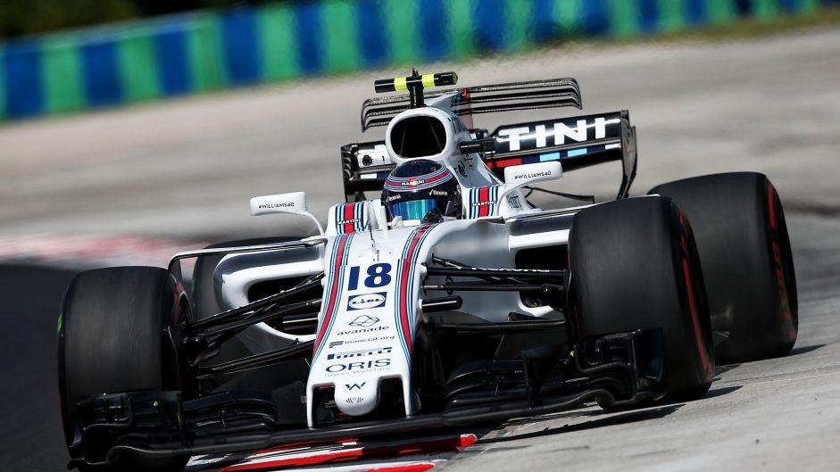 Lance Stroll, Williams, Hungaroring, 2017
