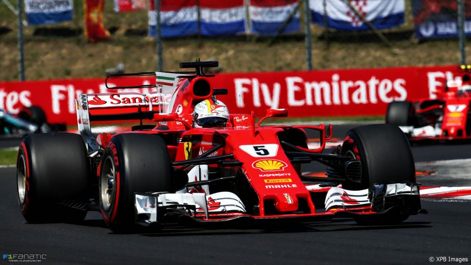 Vettel leads Ferrari one-two in tense Hungarian Grand Prix