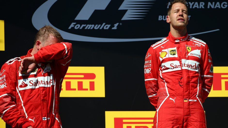 Vettel first, Raikkonen accepts second and Hamilton gives up third