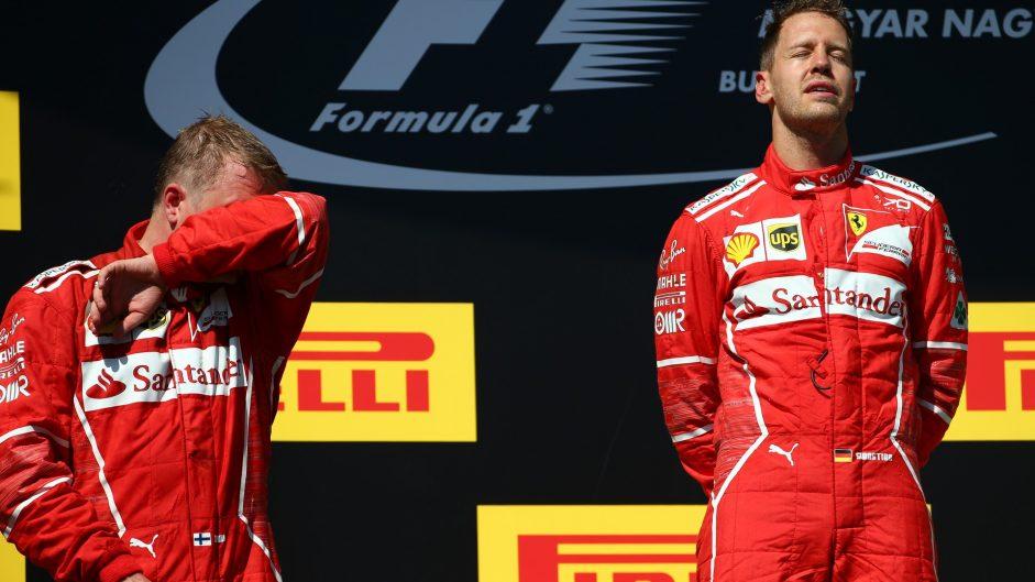 Vettel first, Raikkonen accepts second and Hamilton gives up third