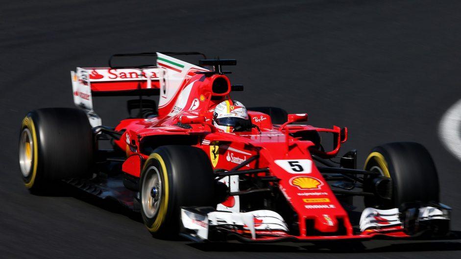 Sebastian Vettel, Ferrari, Hungaroring, 2017
