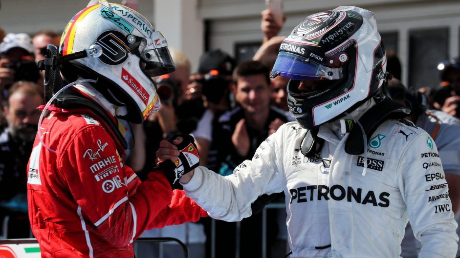 Sebastian Vettel, Valtteri Bottas, Hungaroring, 2017