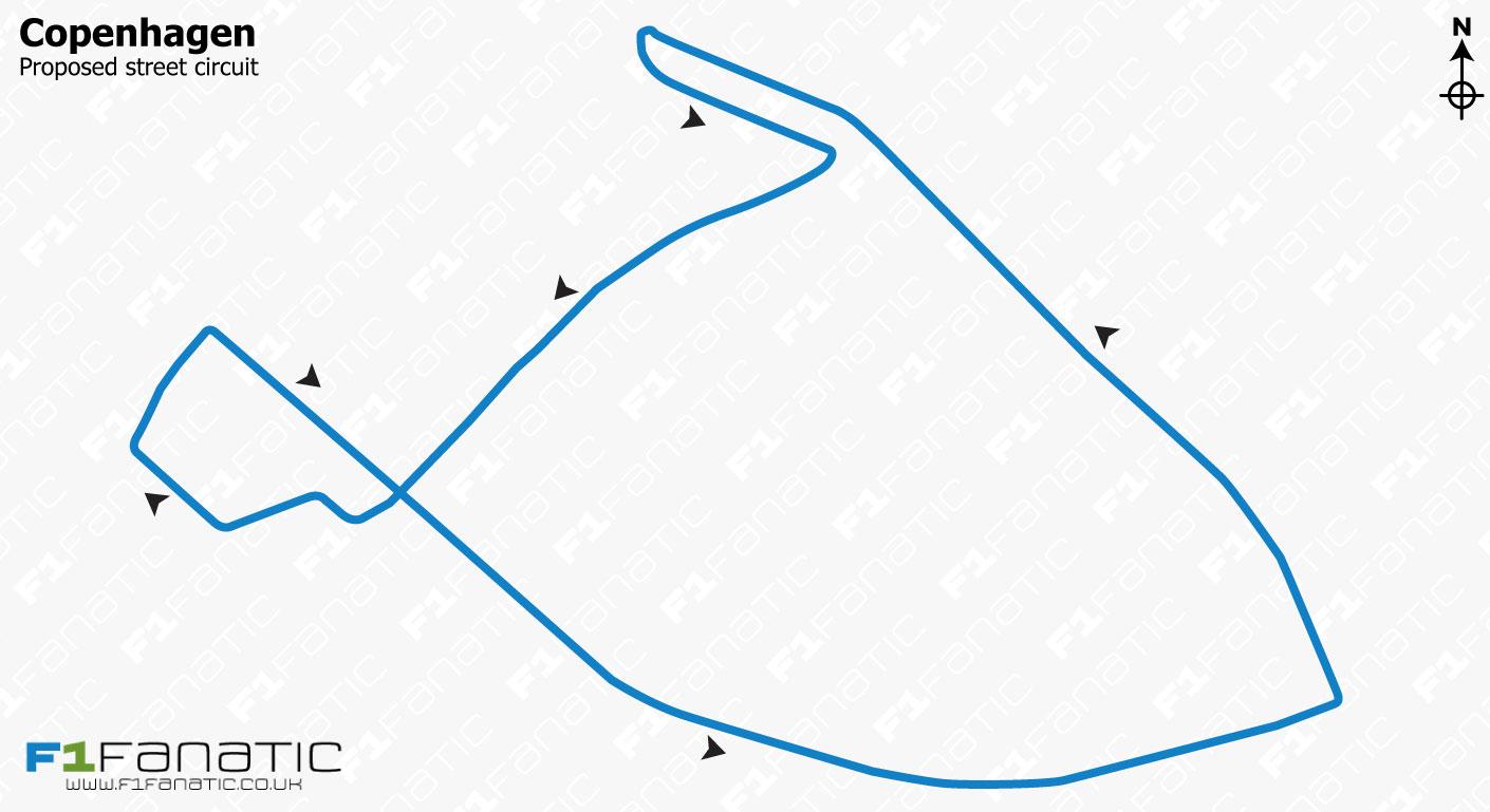 Proposed Copenhagen street circuit design