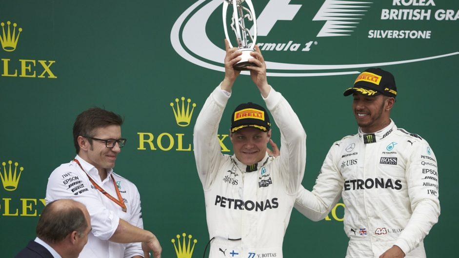 Valtteri Bottas, Lewis Hamilton, Mercedes, Silverstone, 2017