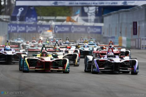 Start, New York, Formula E, 2017