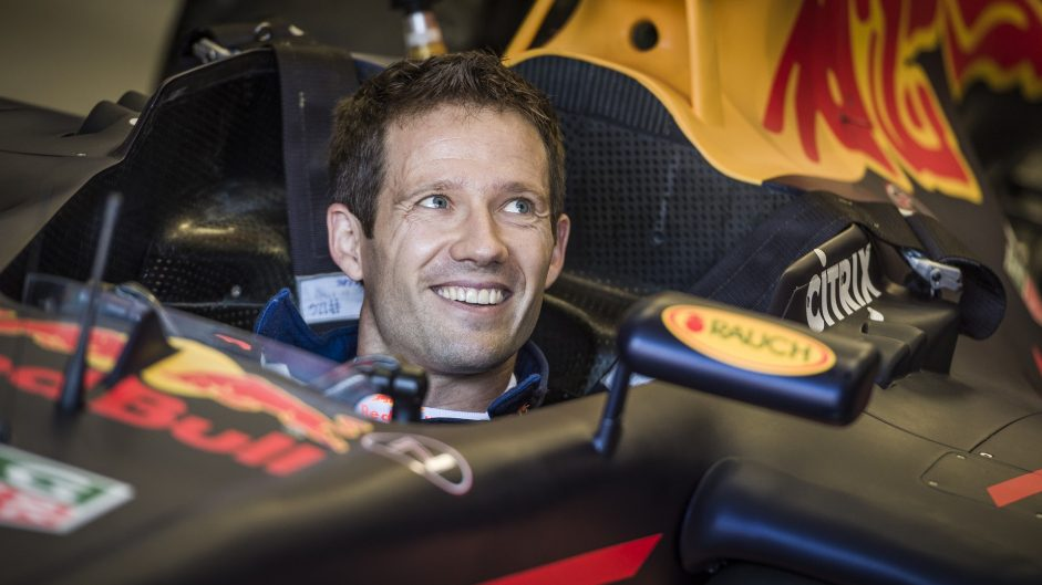 Rally champion Ogier tests Red Bull F1 car