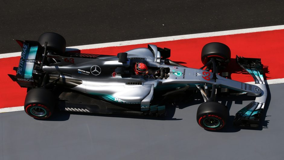 George Russell, Mercedes, Hungaroring, 2017