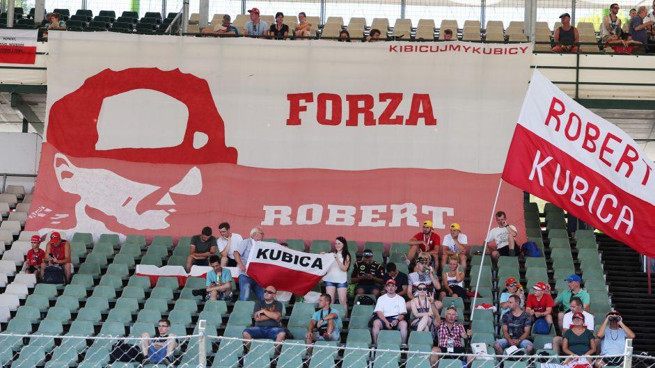 Robert Kubica fans, Renault, Hungaroring, 2017