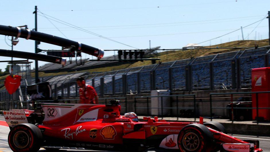 Charles Leclerc, Ferrari, Hungaroring, 2017