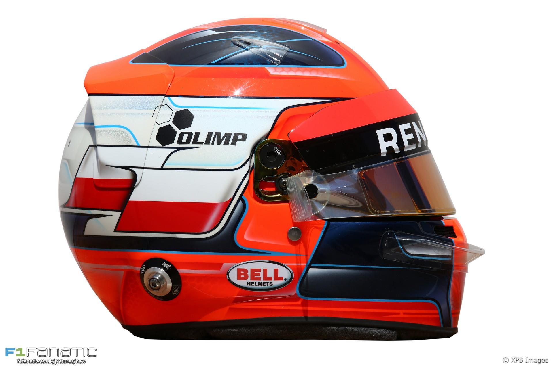 Robert Kubica helmet, Renault, 2017