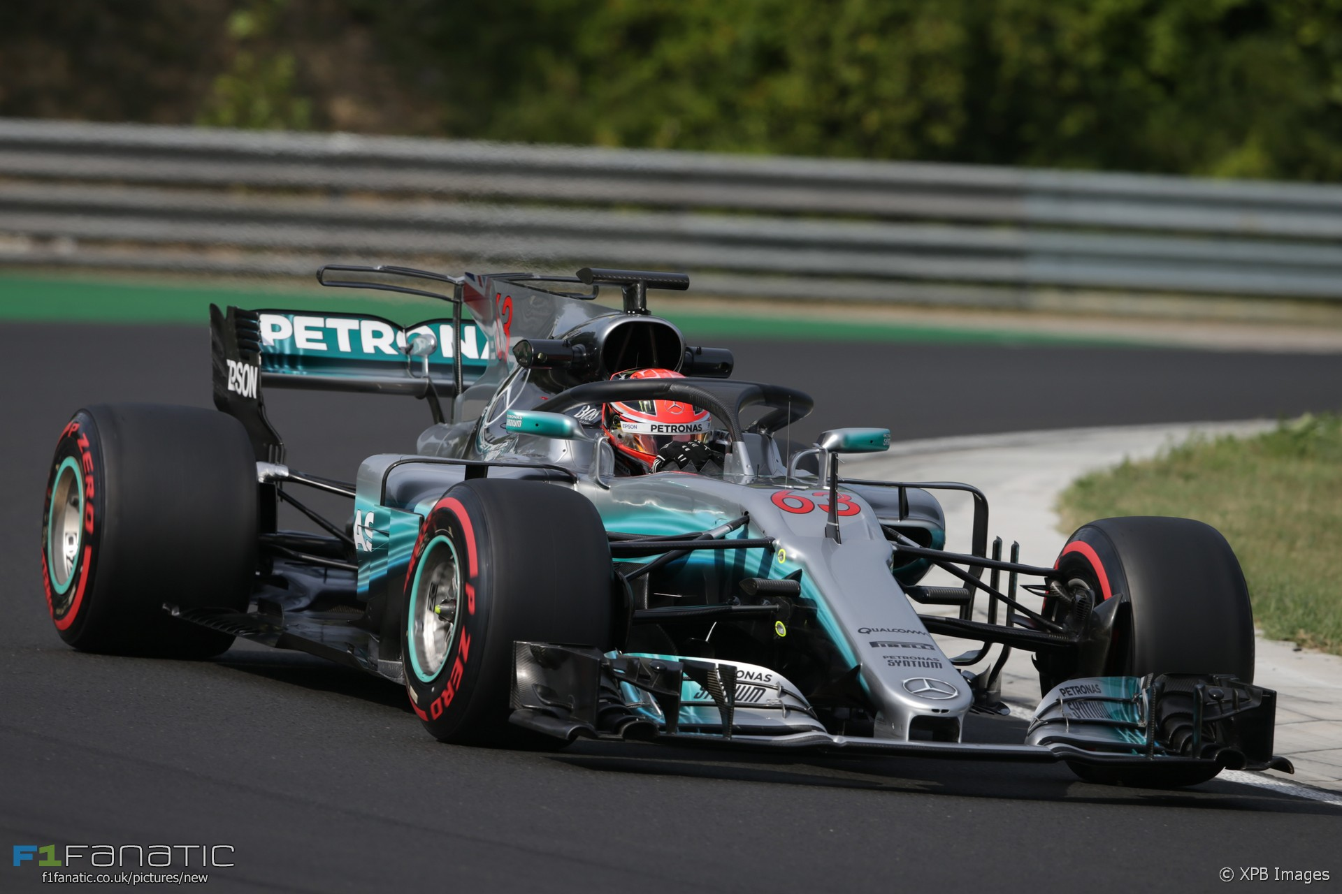 George Russell test the Halo, Mercedes, Hungaroring, 2017 · F1 Fanatic