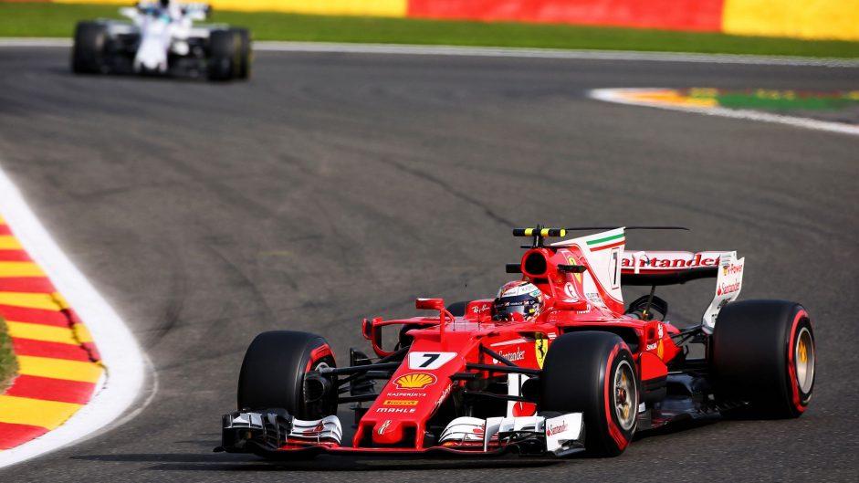 Raikkonen tops Vettel in final Belgian GP practice