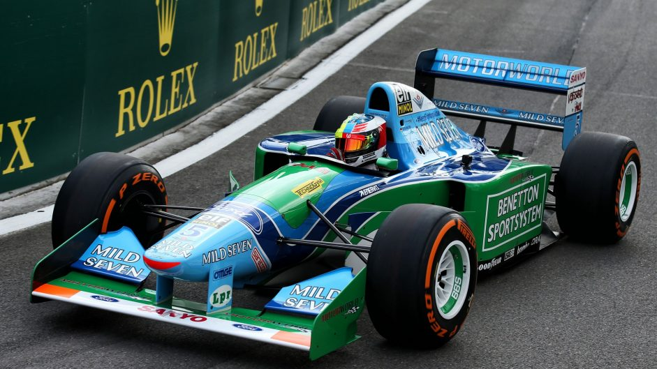 Pictures: Mick Schumacher drives his father's title-winning Benetton at Spa