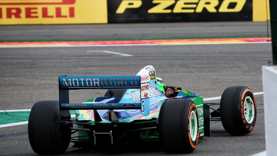 Mick Schumacher Drives Father S F Car At Spa