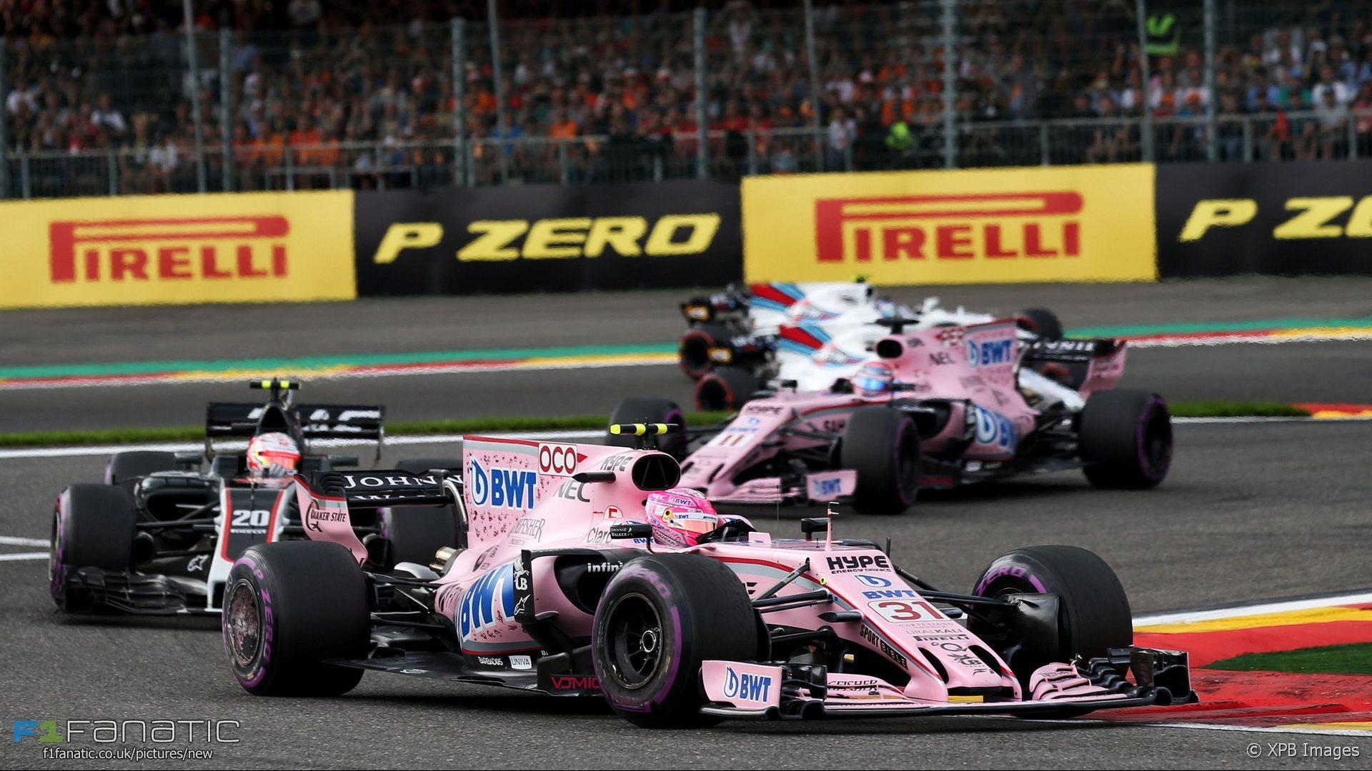 Esteban Ocon, Force India, Spa-Francorchamps, 2017