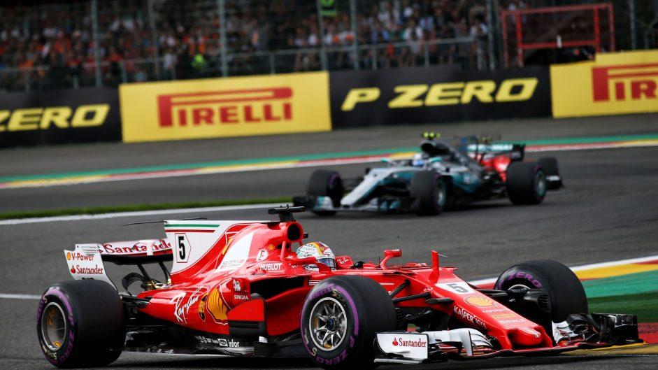 Sebastian Vettel, Ferrari, Spa-Francorchamps, 2017