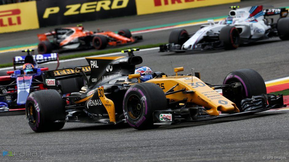 Jolyon Palmer, Renault, Spa-Francorchamps, 2017