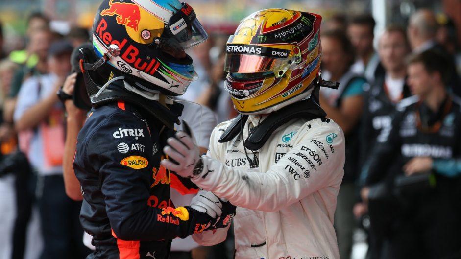 Daniel Ricciardo, Lewis Hamilton, Spa-Francorchamps, 2017