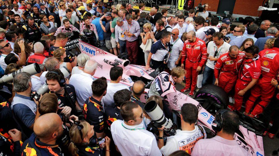Sergio Perez, Force India, Spa-Francorchamps, 2017