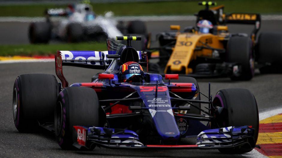 Carlos Sainz Jnr, Toro Rosso, Spa-Francorchamps, 2017