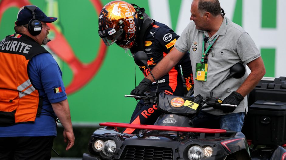 Verstappen 'not a happy person' after early Belgian GP retirement
