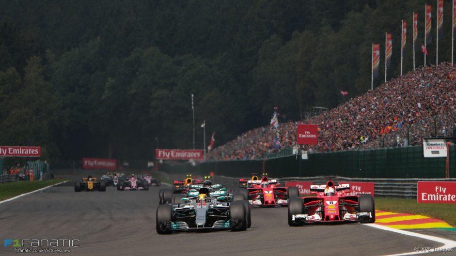 Lewis Hamilton, Sebastian Vettel, Spa-Francorchamps, 2017