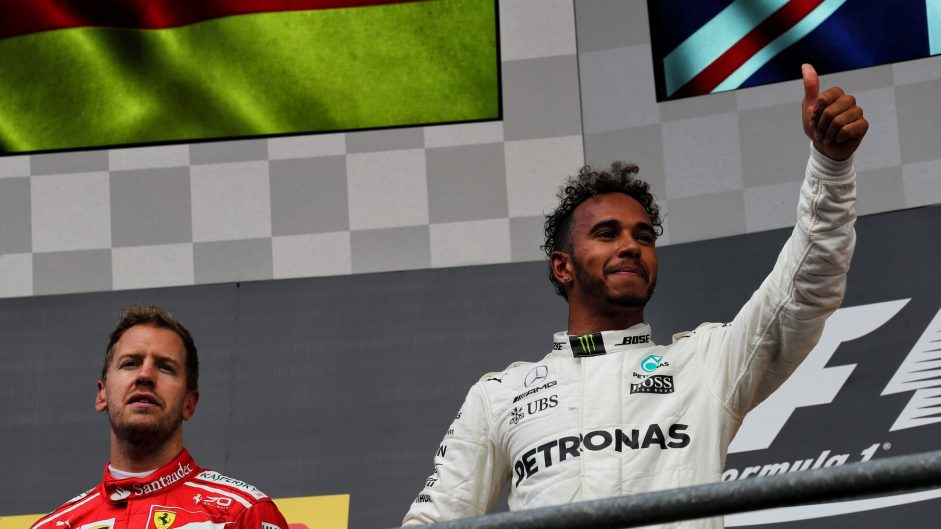Hamilton keeps cool under Vettel pressure as Force India fracture