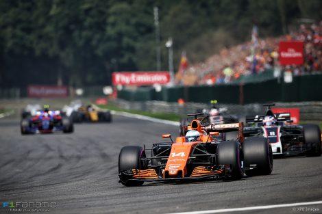 Fernando Alonso, McLaren, Spa-Francorchamps, 2017