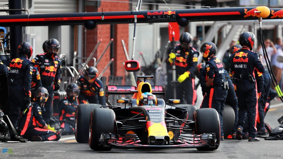 2017 Belgian Grand Prix tyre strategies and pit stops
