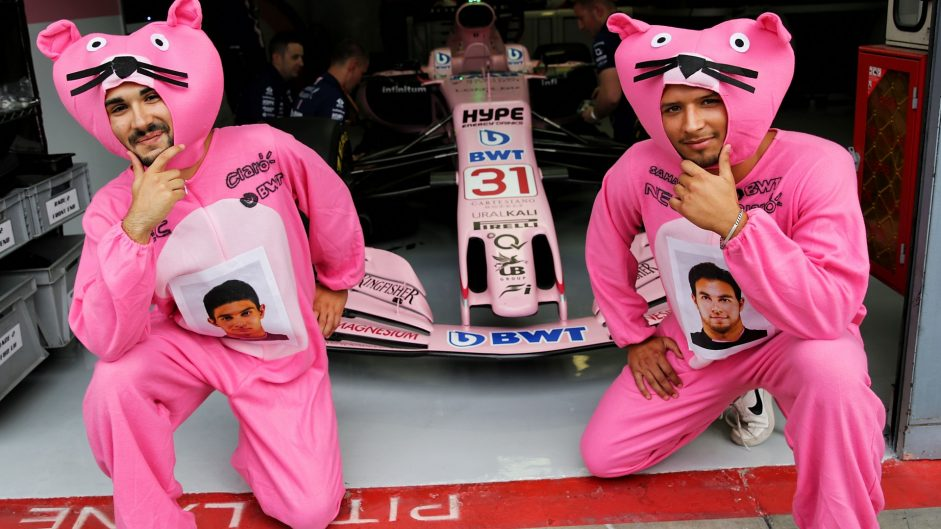 Force India fans, Monza, 2017