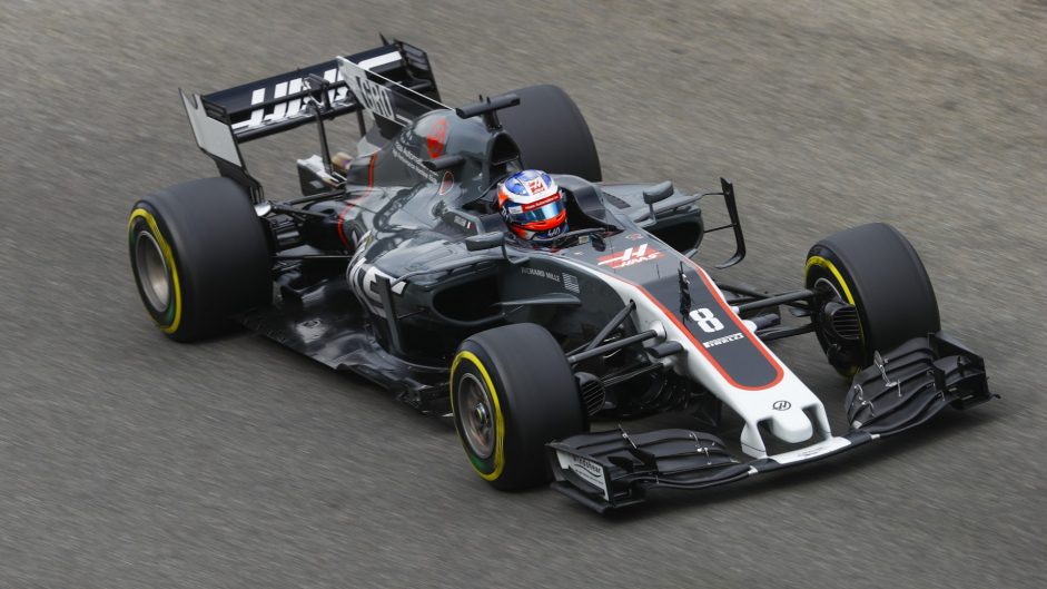 Second practice abandoned after drain causes Grosjean crash