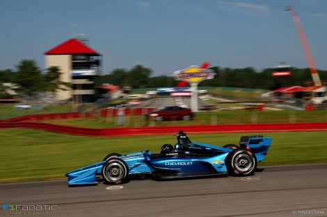 IndyCar 2018 road course aerodynamic kit test, Mid-Ohio, 2017