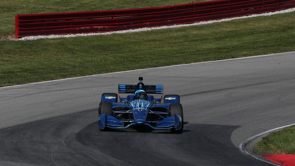 IndyCar 2018 road course aerodynamic kit test, Mid-Ohio, 2017
