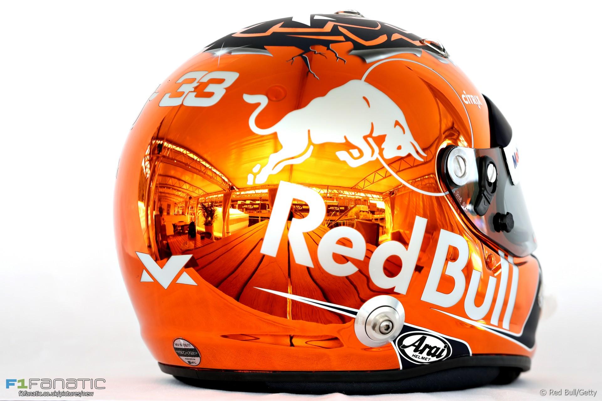 Max Verstappen helmet, Spa, 2017 · F1 Fanatic