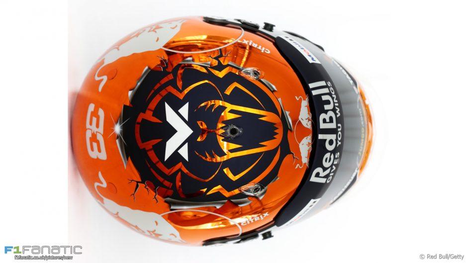 Max Verstappen helmet, Spa, 2017