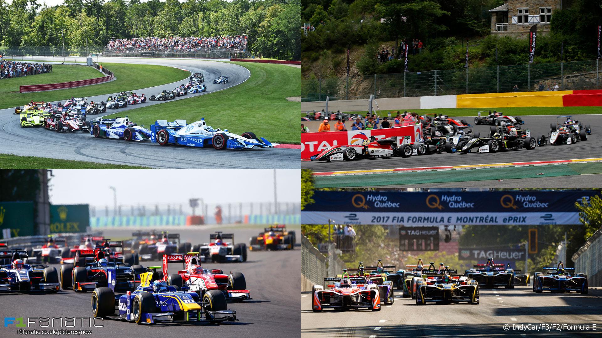 IndyCar, Formula Three, Formula Two, Formula E