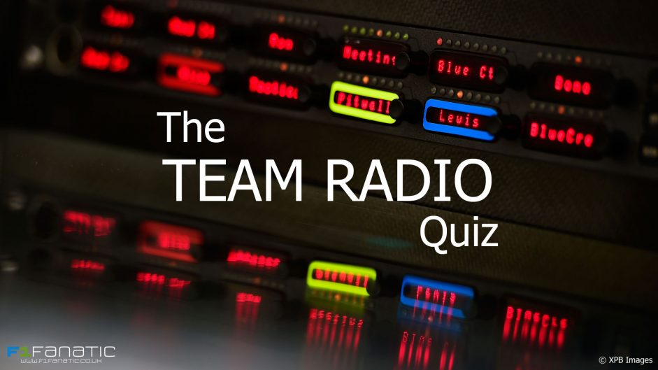 Quiz: Do you remember these 20 team radio messages?