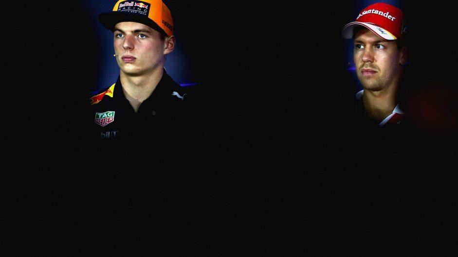 Max Verstappen, Sebastian Vettel, Sepang International Circuit, 2017