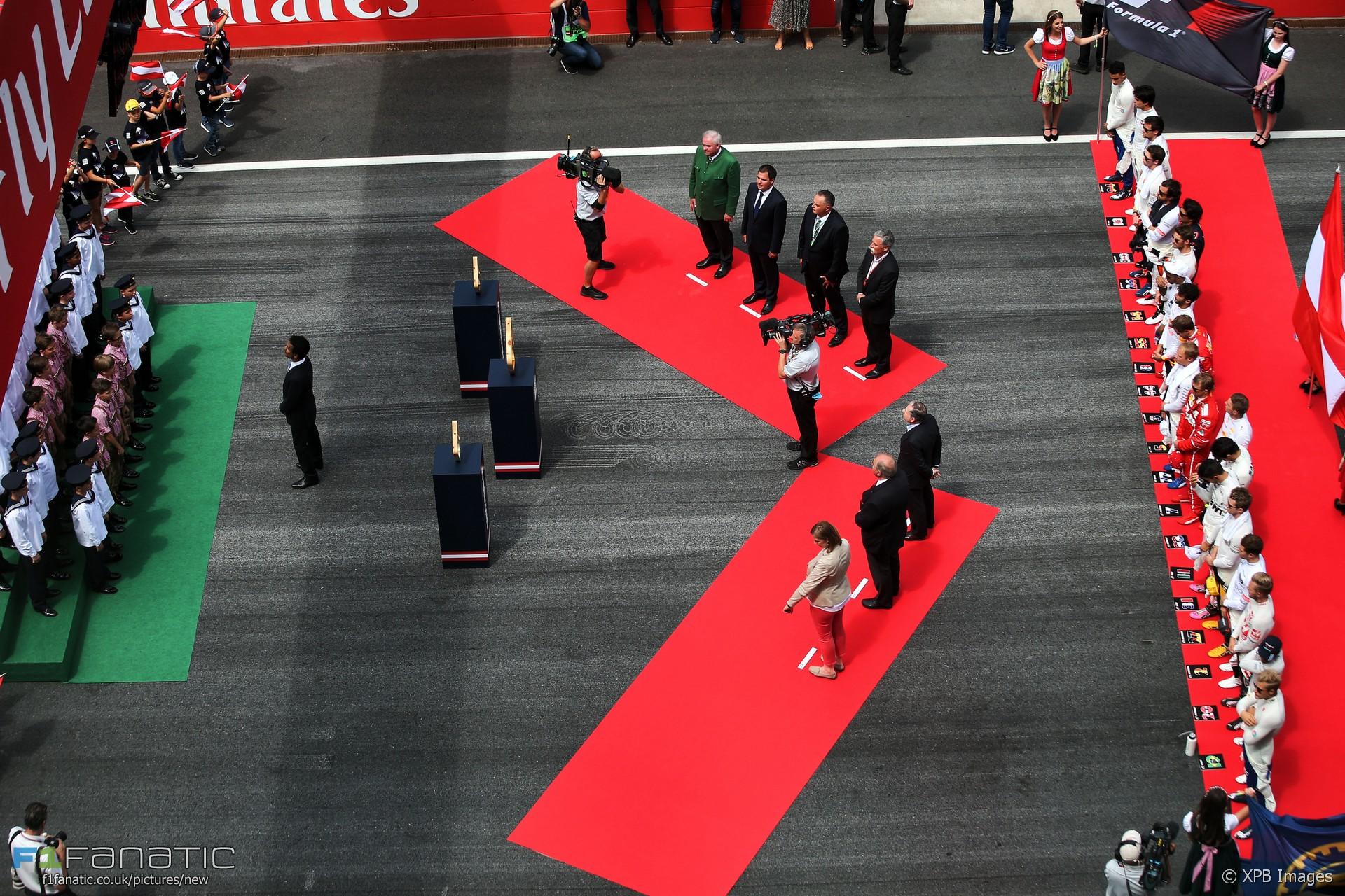 National anthem ceremony, Red Bull Ring, 2017